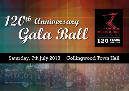City of Melbourne Pipe Band 120th Anniversary Gala Ball