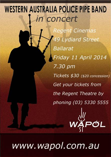 WA Police Pipe Band Concert